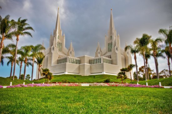 San Diego Mormon Temple: Photoshop
