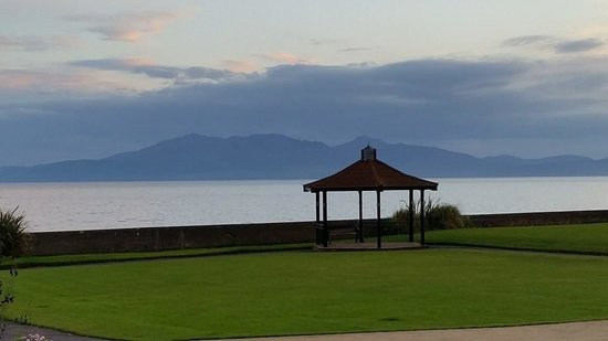Seamill Hydro: View from Seamill towards Arran