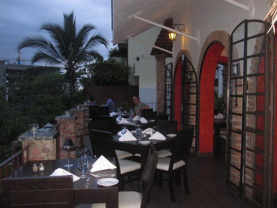 Taste Restaurant at Casa Cupula: Balcony seating at Taste
