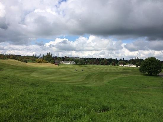 Gleneagles: the first on the Kings back towards the hotel, great walk