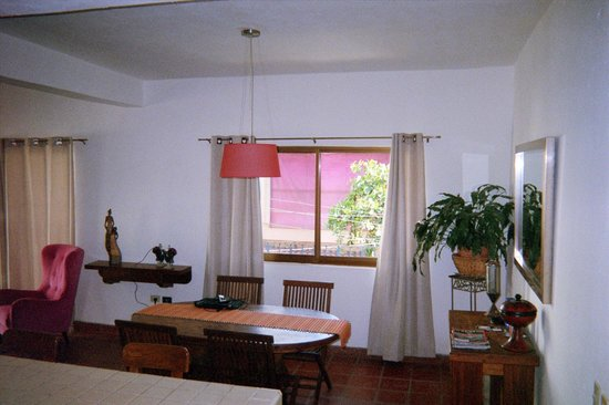 Villa Mercedes Petit Hotel : The dining/living area in 106