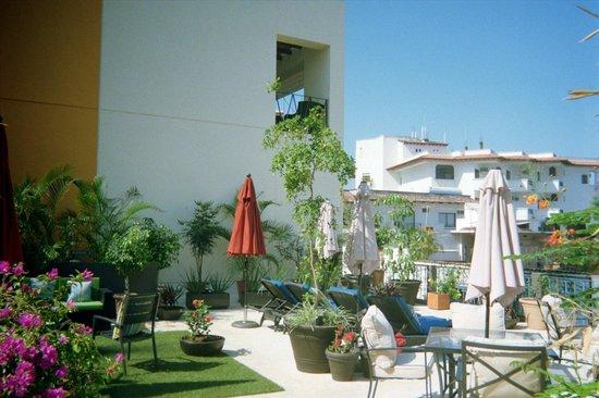 Villa Mercedes Petit Hotel : The terrace