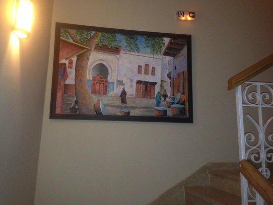 Hotel Almas : escalier