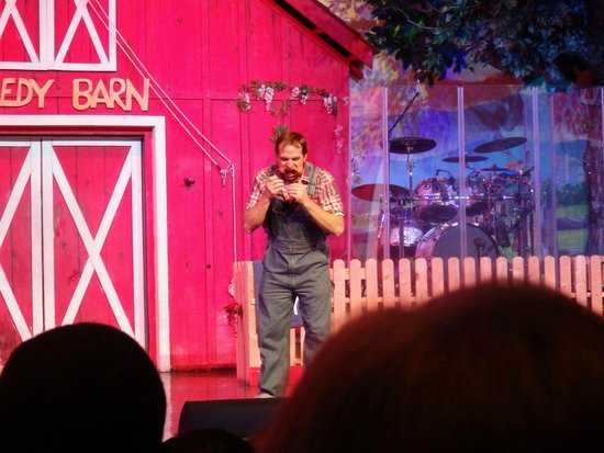 Comedy Barn: Juggles ping pong balls with his mouth