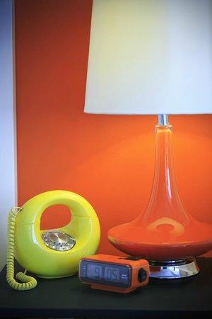 Hotel Zed : Rotary phone and retro furniture
