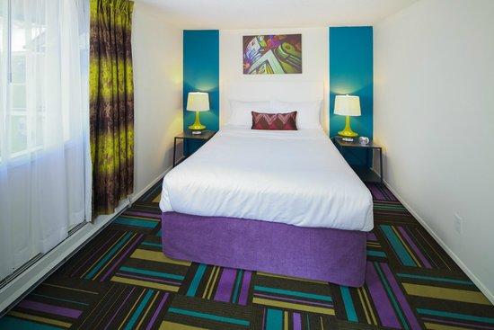 Separate bedroom in Zed 2 bed Hotel Zed