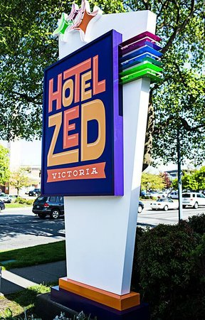 Hotel Zed sign in Victoria BC