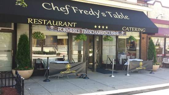 Chef Fredy's Table Front View