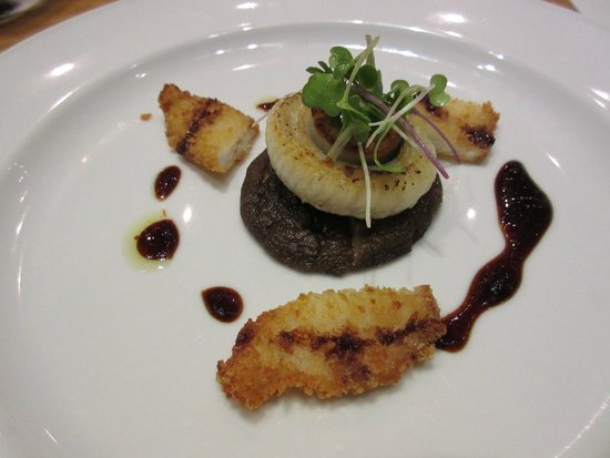 Tojo's Restaurant: Lingcod 2-ways and scallop.