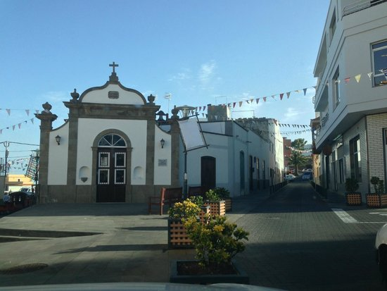 Tasca Tierras del Sur: outside the restaurant, festival banners up