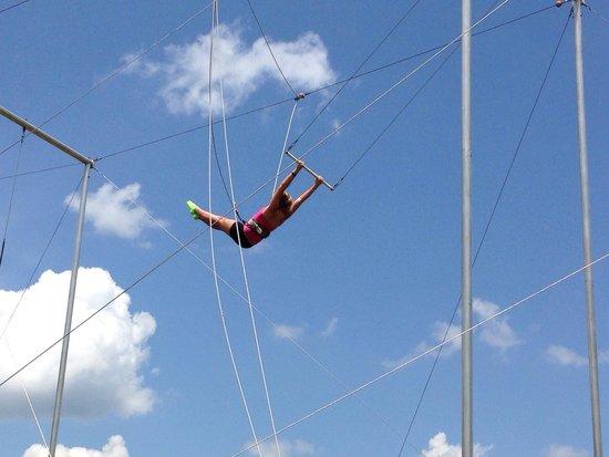 Callaway Gardens: Kids camp trapeze.