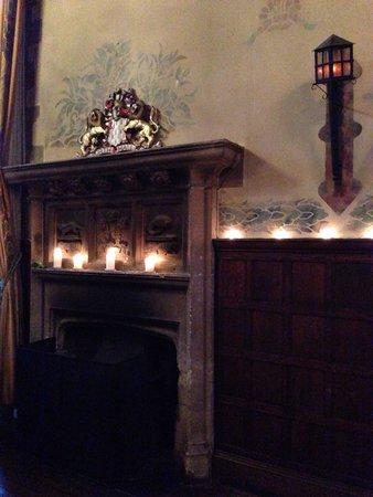 Redworth Hall Hotel: Fireplace