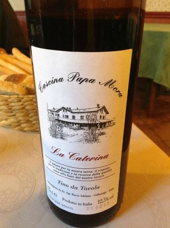 Cascina Papa Mora: They make their own wine--delishe
