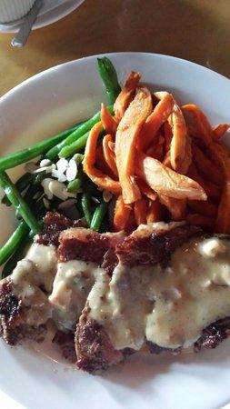 Maya Restaurant: $12 Tuesdays!  Steak & 2 sides.
