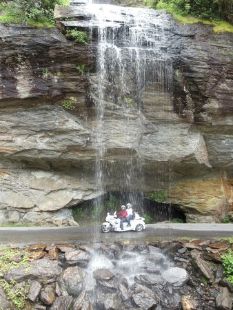 North Carolina Mountains, Caroline du Nord : Bridal Veil Falls