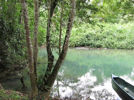 Toledo Cave & Adventure Tours - Day Tours: Dory in river