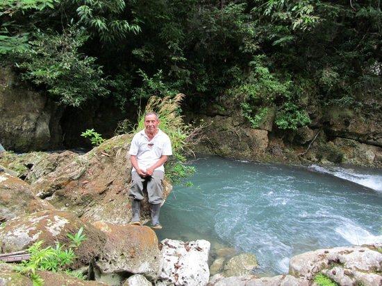 "Toledo Cave & Adventure Tours - Day Tours: Ignacio Ash at the ""source""."
