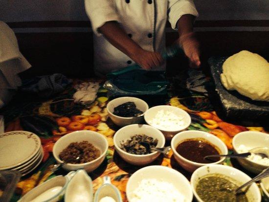 Hotel Boutique Casa de Campo: Tortillas recién hechas