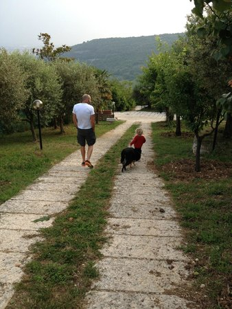 Bed and Breakfast Villa Beatrice: walking the grounds with Shanti the dog:)
