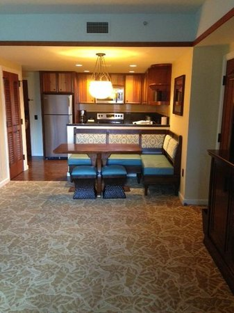 Kitchen / Dining area in 1 bedroom villa - Picture of Aulani, a ...