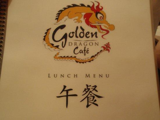 Golden Dragon: cover of menu