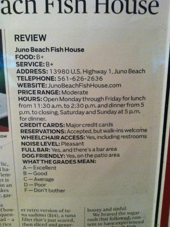 Juno Beach Fish House: Our Mission, A.