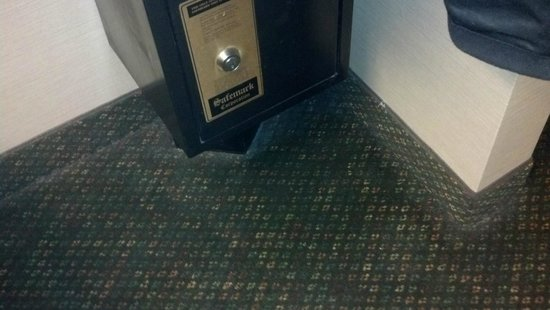 Days Inn Columbus Fairgrounds: Total lack of edge vacuuming in entire room. Don't drop anything!