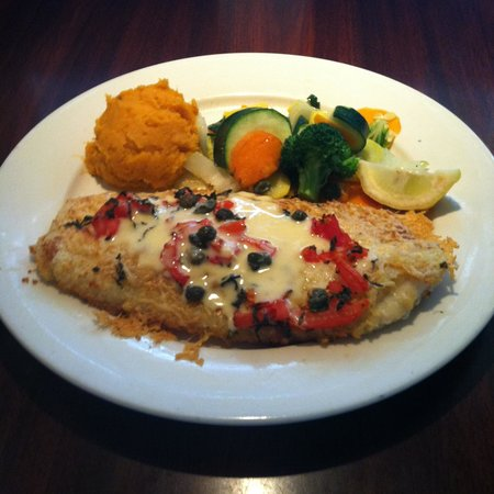 Juno Beach Fish House: Parmesan Encrusted Grouper.