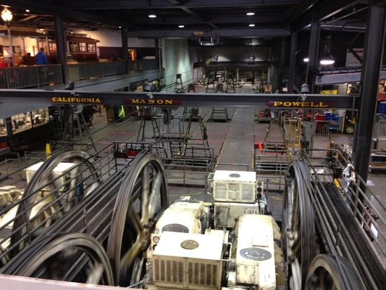 Cable Car Museum: Cable car wheels