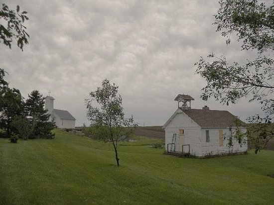 Oakland, IA: view - school and church on the property