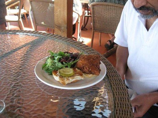The Thirsty Owl Bistro : Thirsty Owl fried chicken sandwich