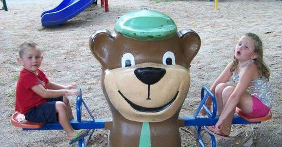 Yogi Bear's Jellystone Park Camp-Resort at Paradise Pines: Fun at the playground.