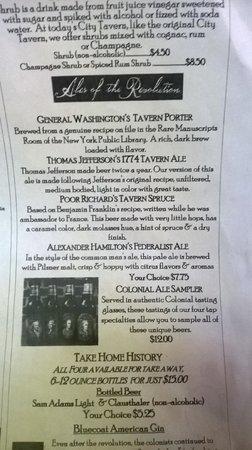 City Tavern: Beers