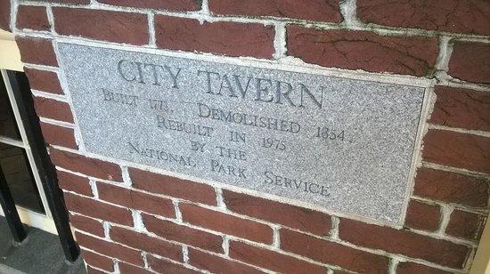 City Tavern: The Plaque