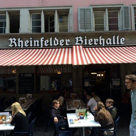 Rheinfelder Bierhalle: Street seating