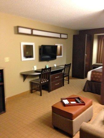 Microtel Inn & Suites by Wyndham Triadelphia/wheeling : Walking into the living room area
