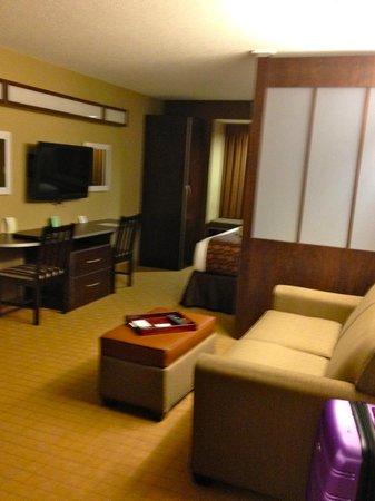 Microtel Inn & Suites by Wyndham Triadelphia/wheeling : Livingroom area