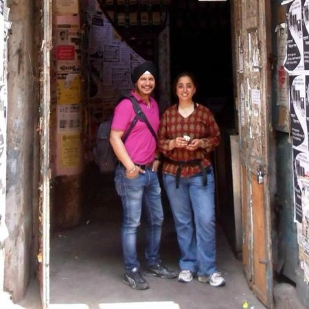 Calcutta Photo Tours : At the door of the famous India Coffee House in Calcutta.