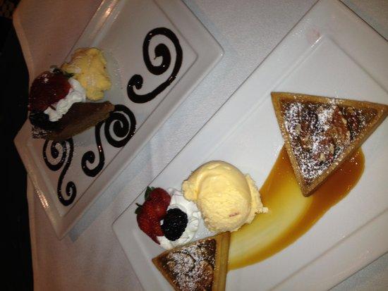 Bijou Bistro: Grand Marnier Pecan Tart, Chocolate Cheesecake with sea salt
