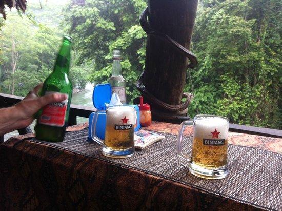 Jungle Lodge : Warm beers
