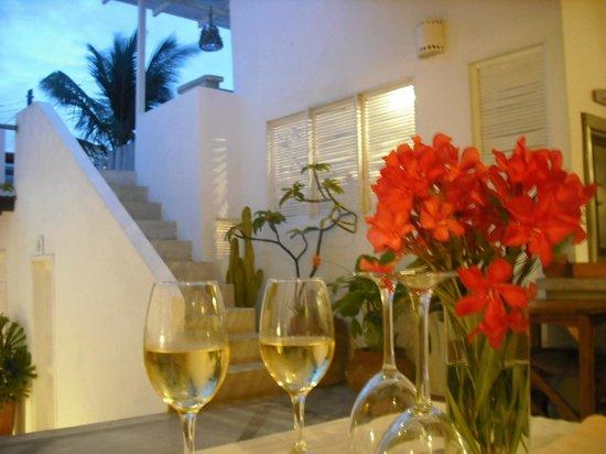 Villa Caracol: vista desde el comedor a la terraza