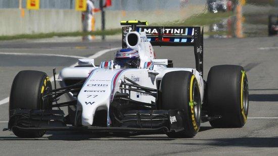 Circuit Gilles Villeneuve : Valteri Bottas in full flight in his Williams Martini car