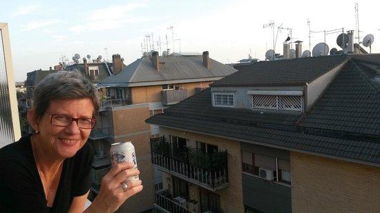 Grand Hotel Fleming: Uma nastro azzuro saboreada na varanda do quarto