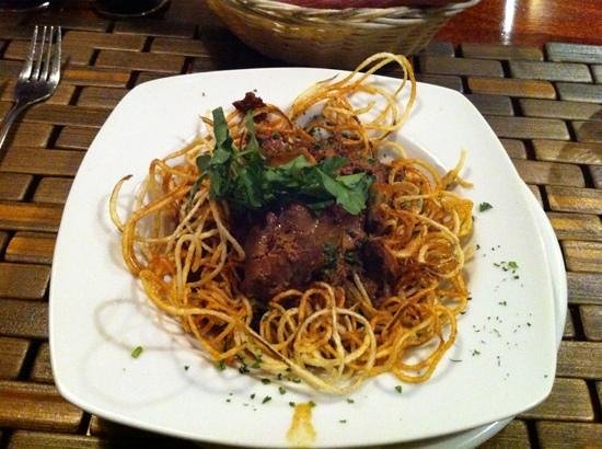 Spencer's Tall Trees Restaurant : chicken livers with noodles