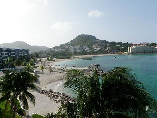 Cole Bay, St. Maarten: View from our room.