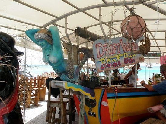 """Royal Palm Beach Resort: Cute beach bar to sit and watch the planes fly in and the brave """"ride the fence."""""""