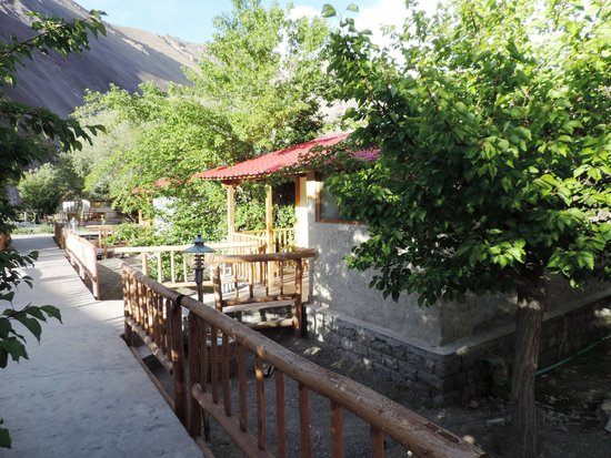Ule Ethnic Resort: Apple and Peach trees surround most cottages