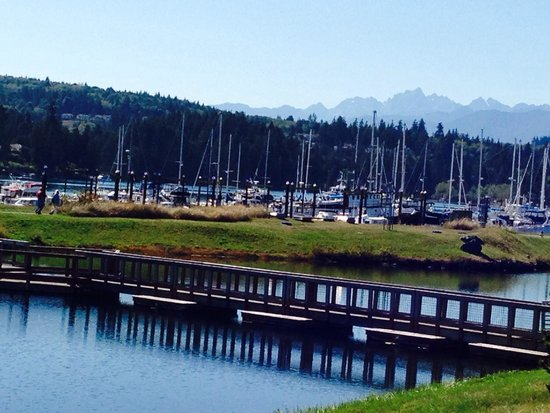 The Resort at Port Ludlow : Love to so on the veranda in the Fireside Restaurant and look at the Port Ludlow Marina.