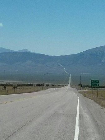 Loneliest Highway in America (Hwy. 50): You can see for miles!!