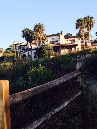 The Ritz-Carlton Bacara, Santa Barbara: View of property from beach